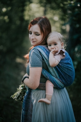 Jacquard baby ring sling    Themis Confetti r/s