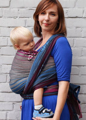 Jacquard baby wrap   Happy Butterfly Azure  s.7