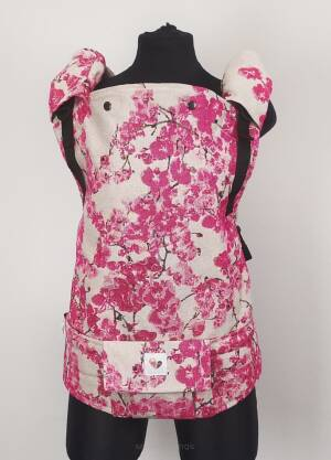 Freely Grow Pink Orchidea sensimo slings baby carrier