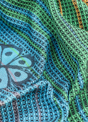 Jacqurd baby  ring sling. Happy Butterfly Rainbow
