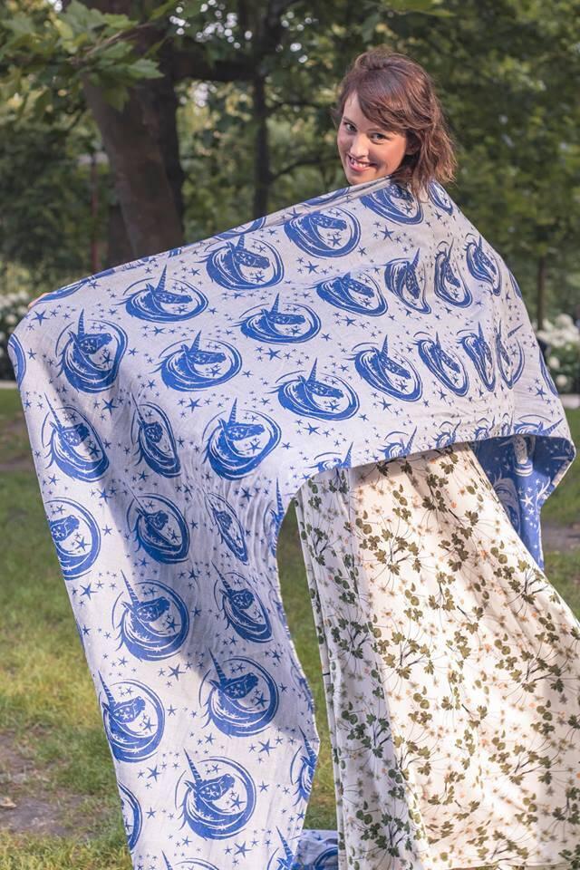 Baby Wrap Jacquard Weave 30 Silk 70 Cotton My Little Unicorn
