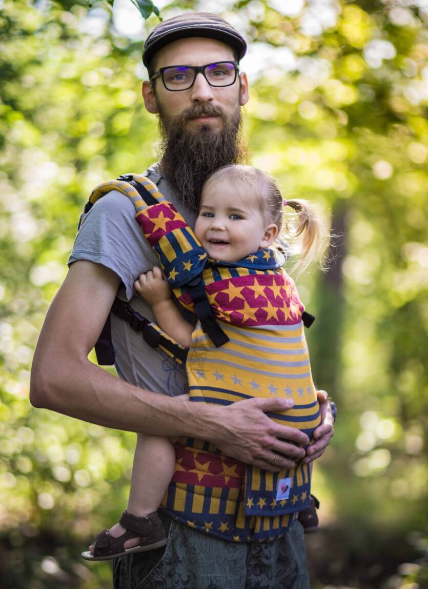 Freely Grow. Ergonomic baby carrier. American Dream Sol.