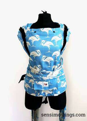Ergonomic baby carrier. Hybrid baby carrier. Heron Cloud
