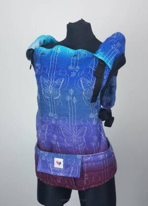 Freely Grow Papillon Blue Ink sensimo slings baby carrier