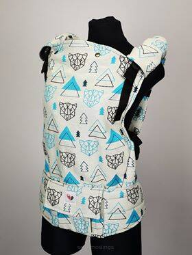 Freely Grow Geo Bears Maritime sensimo slings baby carrier