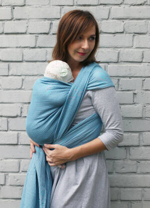 Jacquard baby wrap   Happy Butterfly Turkisa  s.4
