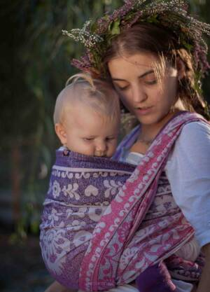 Jacquard baby ring sling   Lea  r/s